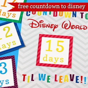 Printable Countdown to Disney | 505-design.com