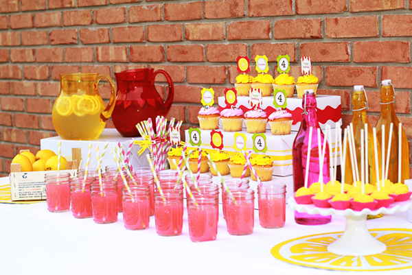Lemonade Party Dessert Table