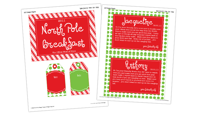 North Pole Breakfast Printables