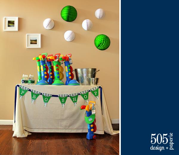 Golf Birthday Party by 505-design.com