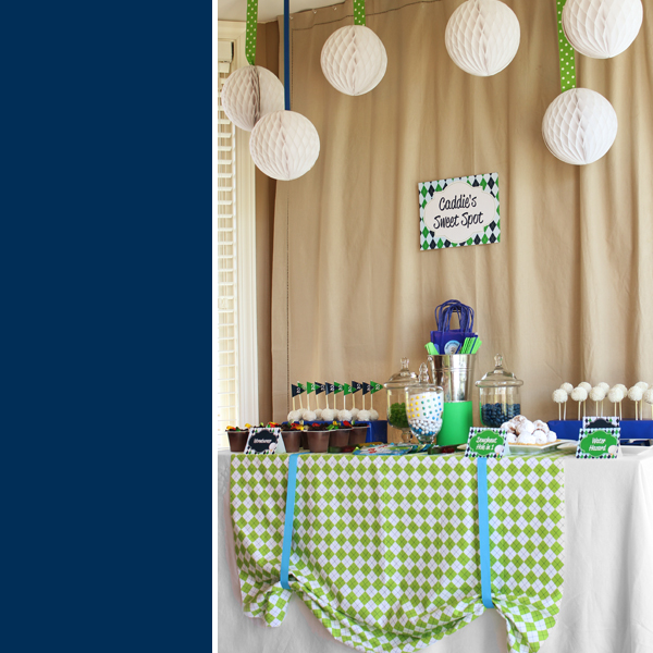 Golf Birthday Party Dessert Table by 505-design.com