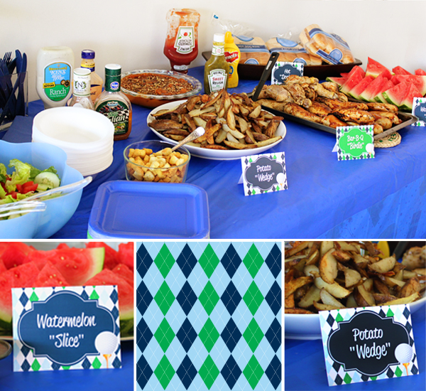 Golf Birthday Party Food Ideas by 505-design.com