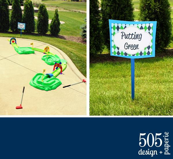 Golf Birthday Party Ideas by 505-design.com