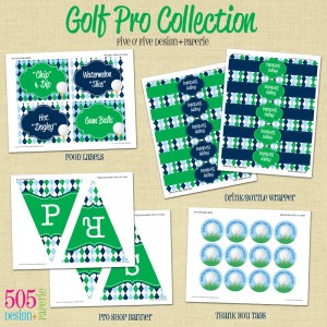 Golf Pro Printable Set