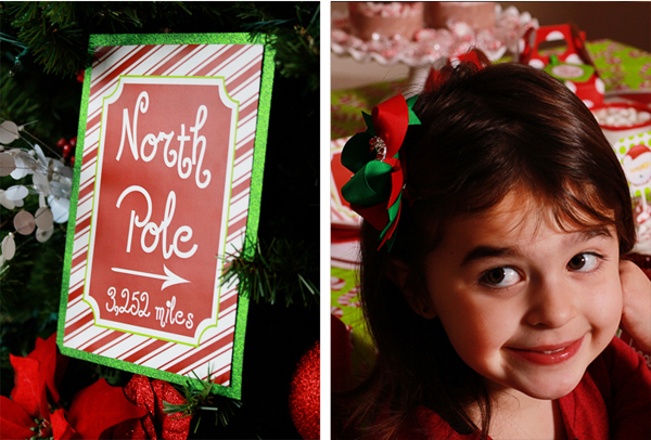 North Pole Party Sign