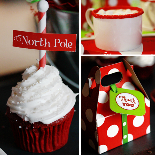Christmas Party North Pole Cupcake