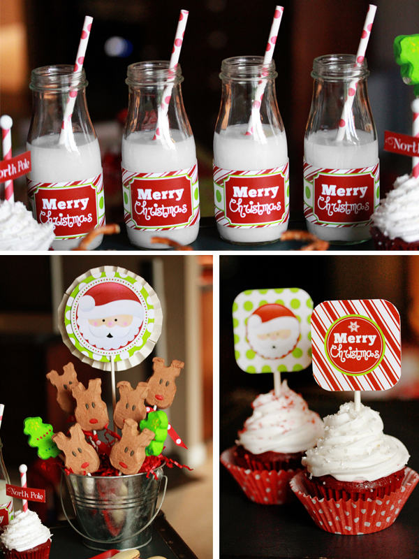 Holly jolly christmas party 505 design inc for Bottle decoration ideas kids