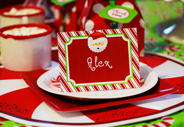 Christmas Party Kids Place Setting