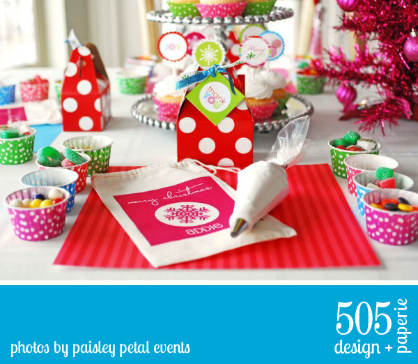 Bright and Merry Holiday Party by Paisely Petal Events | 505-design.com