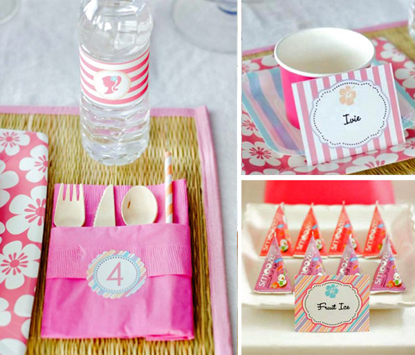 Barbie Surfer Party Place Setting