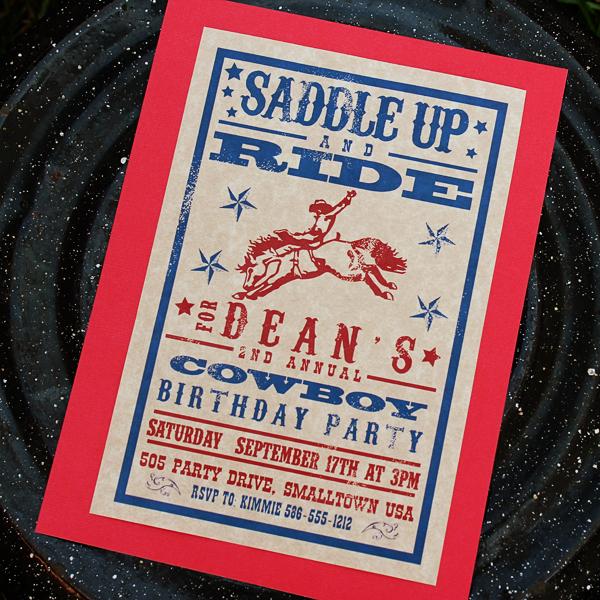 Western Cowboy Invitation