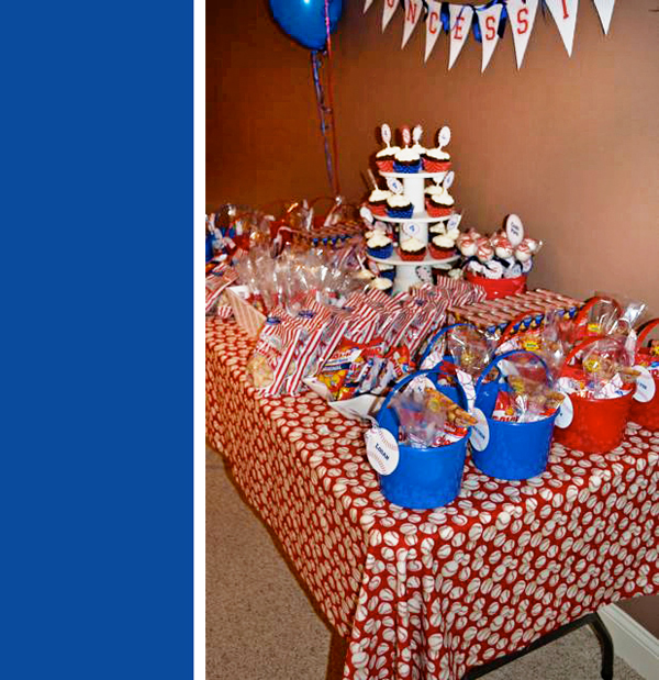 Baseball Party Favor Table