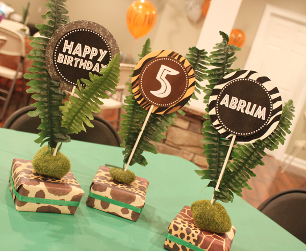 Safari Party Centerpieces