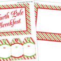Free North Pole Breakfast Printable