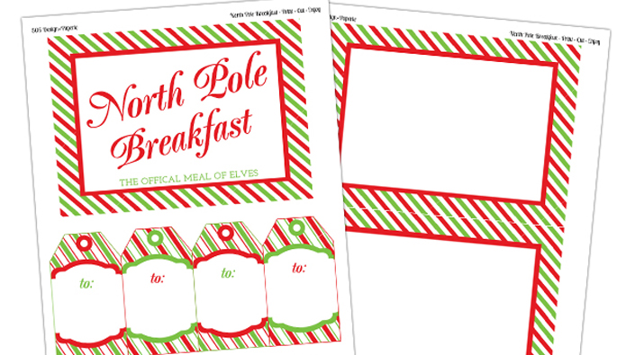 Elf on the Shelf Breakfast Printables