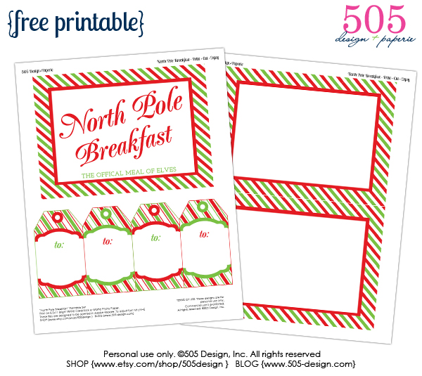 image relating to Free Printable Elf on the Shelf Letter referred to as Elf upon the Shelf Breakfast Printables 505 Style, Inc
