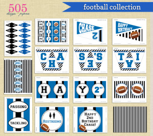 Printable Football party Collection | ww.505-design.com