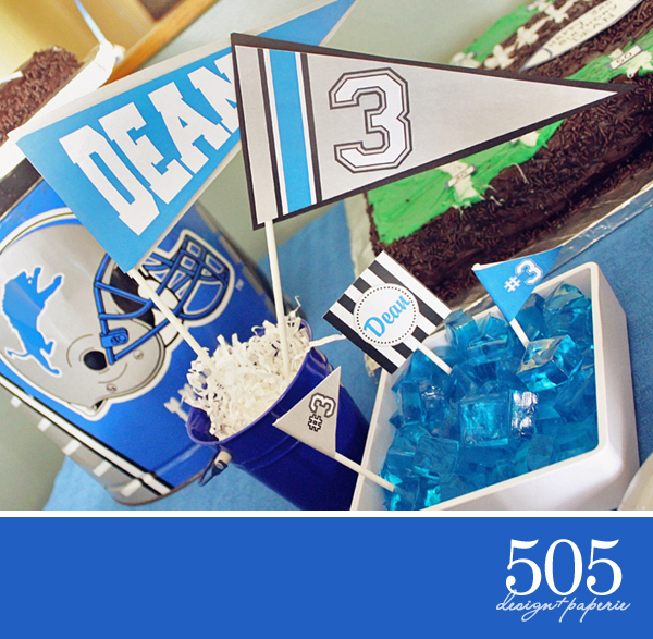 Customized Football Party | www.505-design.com
