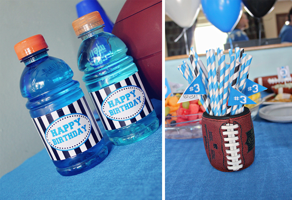 Football Party Drink Labels | www.505-design.com