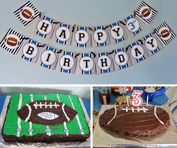 Football Party Cake | www.505-design.com