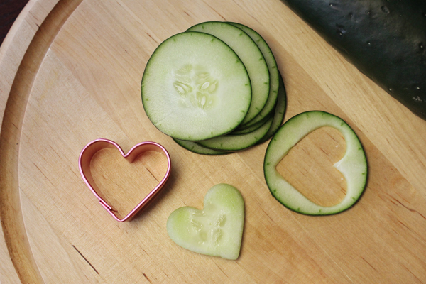 Valentine's Day Heart Shaped Cucumber