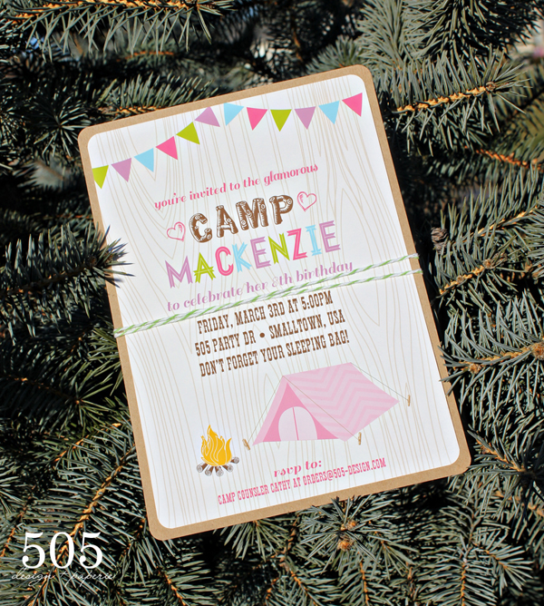 Glam Camping Invitation | 505-design.com