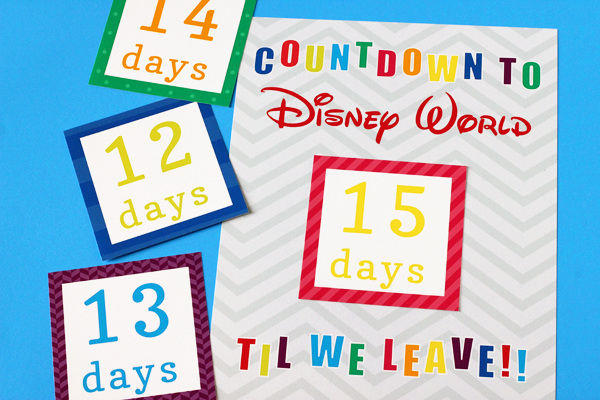 graphic regarding Disney Countdown Calendar Printable named Countdown toward Disney Calendar 505 Layout, Inc