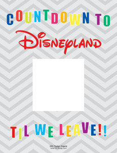 Countdown to Disneyland | 505-design.com