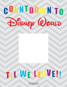 Countdown to Disney World | 505-design.com