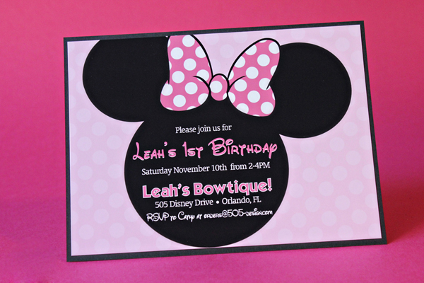 Minnie Mouse Invitation | 505-design.com