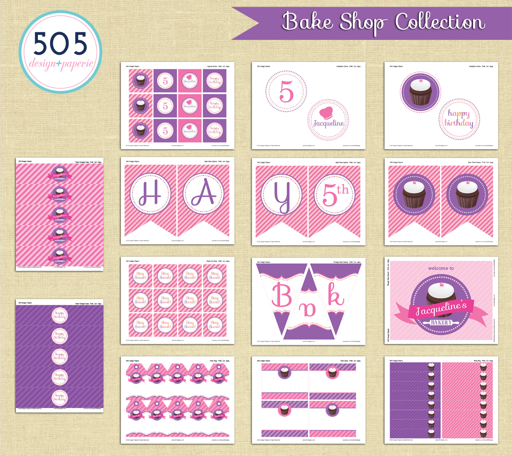 Printable Bake Shop Collection | by 505-design.com