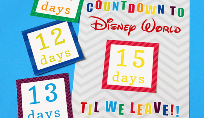 Countdown to Disney Calendar
