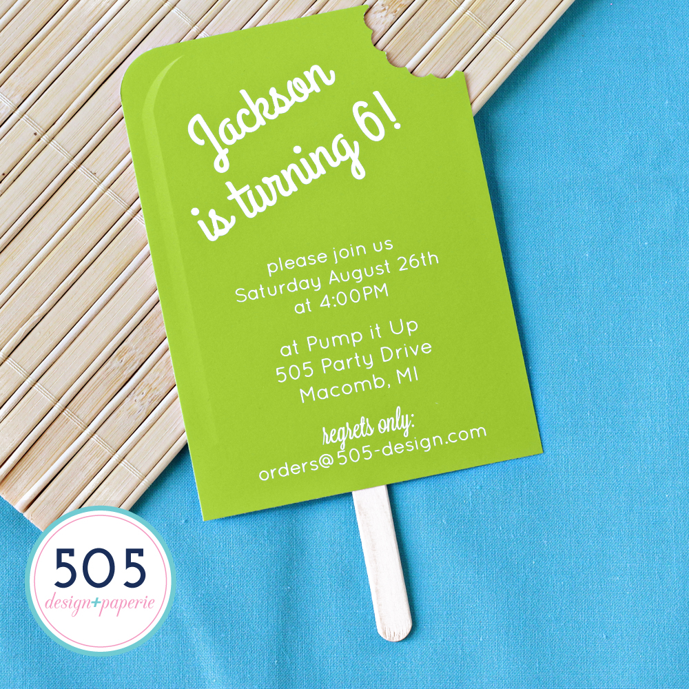 Boys Popsicle Invitation by 505 Design+Paperie