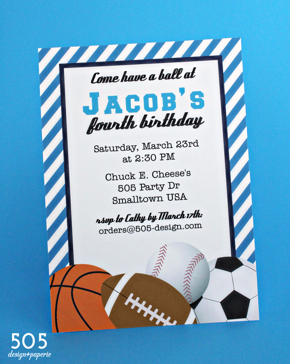 Boys Sports Invitation by 505 Design+Paperie