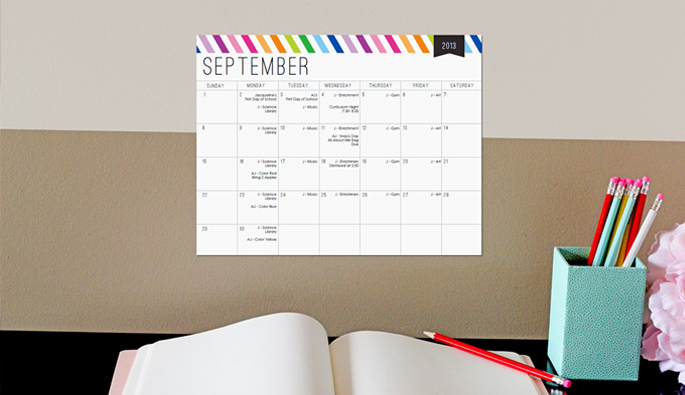 School Year Calendar by 505-design.com