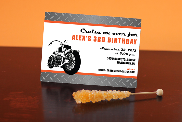 Motorcycle Party Invitation by 505-design.com