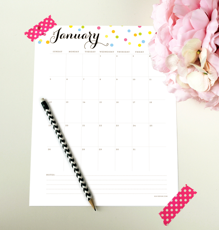 2014 Free Calendar with editable text areas | 505-design.com