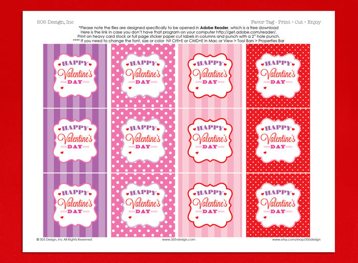 Free Valentine Tag by 505 Design, Inc.