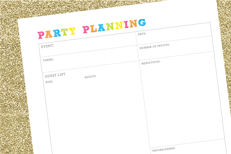 Party Planning Checklist :: FREE Printable Party Planner