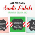 From Santa Label - Free Printable at 505-design.com