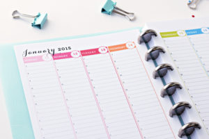 2015 Printable Planner – New to the Shop