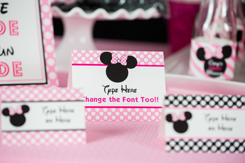 Minnie Mouse Food Labels 505 Design Inc