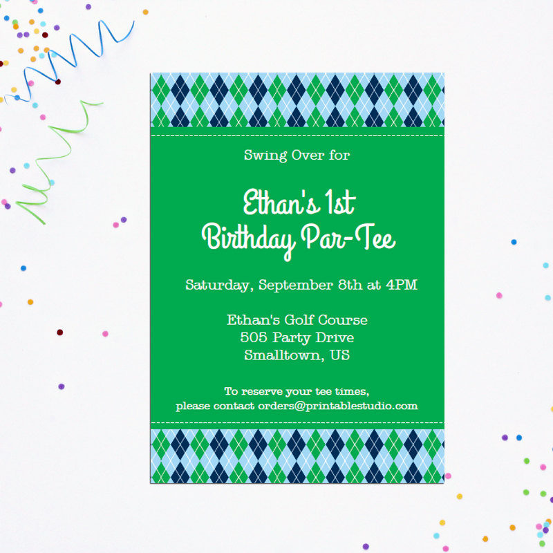 Golf birthday party invitation 505 design inc golf birthday party invitation filmwisefo