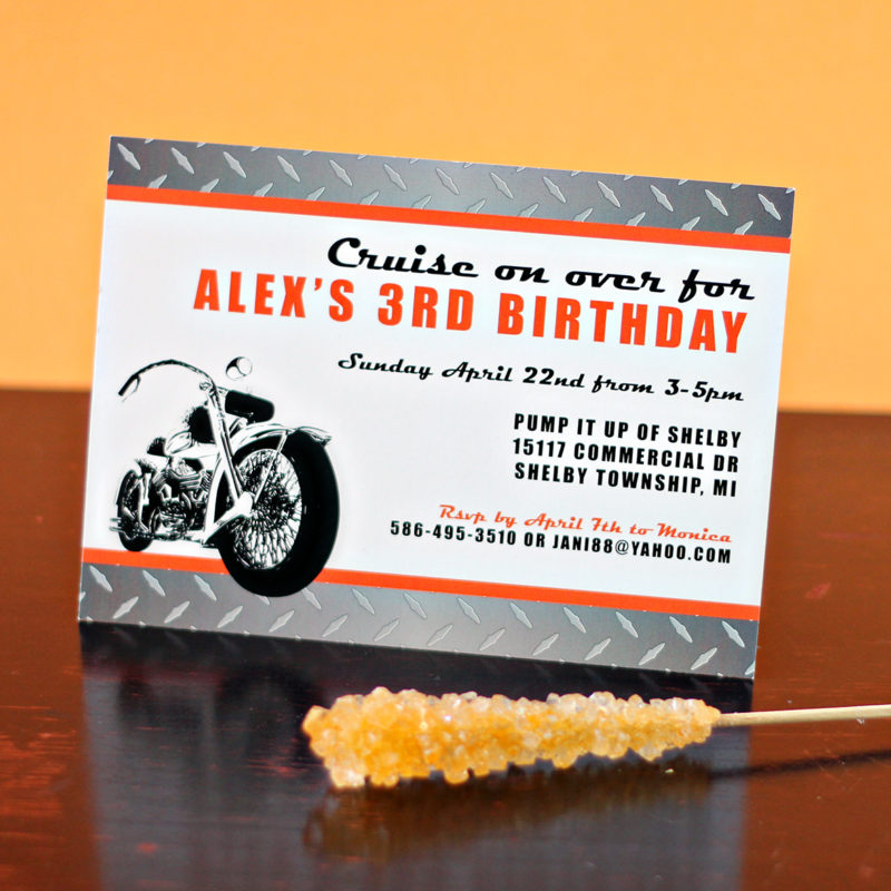 Motorcycle Birthday Invitation