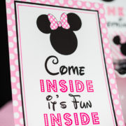 Minnie Mouse Come Inside It's Fun Inside Signs