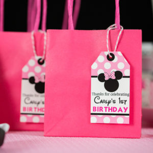 Pink Minnie Mouse Favor Tags