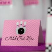 Pink Bowling Buffet Labels
