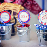 Cowboy Party Cupcake Toppers