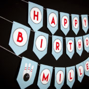 Bowling Birthday Party Banner
