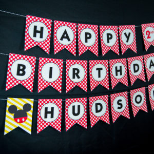 Printable Mickey Mouse Banner